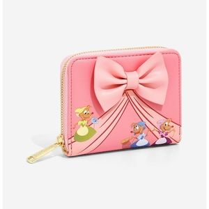Loungefly Cindrella pink dress wallet